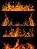 Orange flame strips — Stock Photo
