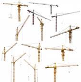 Hoisting cranes — Stock Photo