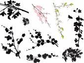 Blossom sakura branches — Stock Vector