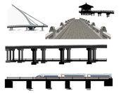 Bridges collection — Stock Vector