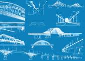 White bridges collection — Stock Vector