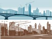 City landscapes — Stock Vector