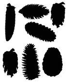 Black cones — Stock Vector