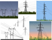 Electric towers — Stock Vector