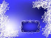White floral frame — Stock Vector