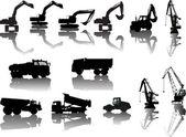 Heavy industrial machinery — Stock Vector