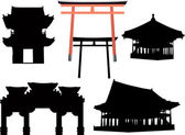 Pavilion collection — Stock Vector