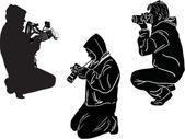 Photographers set — Stock Vector