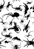 Background from  spiders and scorpions — Stock Vector