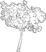 Black sketch tree — Stock vektor