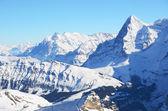 Swiss mountain peaks — Stock Photo