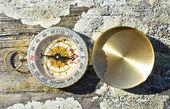 Vintage compass tool — Stock Photo