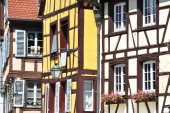 Traditional French houses in Colmar  — Stock Photo