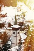Winter view of Davos — Stock Photo