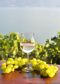 Wine and grapes in Switzerland — Stock Photo