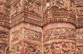 Stone carving on Qutab Minar. — Stock Photo