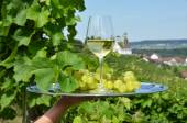 Wine and grapes  in Rheinau — Stock Photo