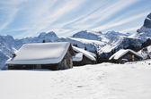 Braunwald, Switzerland at  winter — Stock Photo