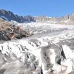 Melting Rhone glacier in Switzerland. — Stock Photo #75937335