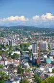 Letecký pohled na Curych — Stock fotografie