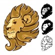 Lion Head Mascot Emblem — Stock Vector #77864416