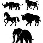 Set of power animals — Stock Vector #77864422