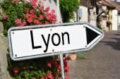 Lyon road sign — Stock Photo