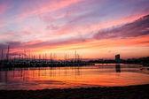 Beautiful sunset on the coastal  — Stock Photo