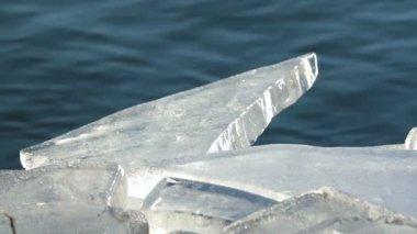 Ice blocks — Stock Video