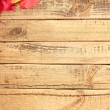 Wooden boards with autumn leafs — Stock Photo #54271405
