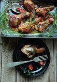 Hot chicken legs — Stock Photo