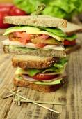 Sandwiches for snack — Stock Photo