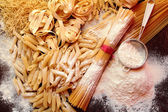 Mix of pasta for cooking — Stock Photo