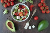 Bowl with fresh salad — Stock Photo