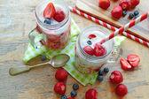 Milk-shake de morango — Fotografia Stock