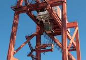 Crane inport of Gdynia — Stock Photo