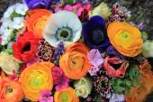 Spring bouquet in bright colors — Stock Photo