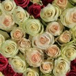 Pink roses in different shades in wedding arrangement — Stock Photo #53386837