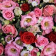 Red, pink and white wedding arrangement — Stock Photo #56103891