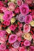 Bridal rose arrangement in various shades of pink — Stock Photo