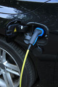 Hybrid car recharge — Stock Photo