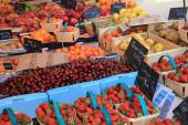 Fruit stall at the market — Stock Photo