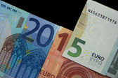 Year 2015  in Euro notes — Stock Photo