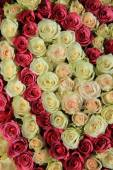 Roses in different shades of pink, bridal arrangement — Stock Photo