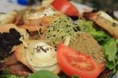 Goat cheese salad — Stock Photo