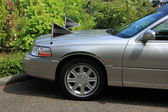 Silver grey hearse detail — Stock Photo