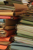 Stacked files — Stock Photo