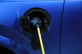 Electric car recharge — Stock Photo