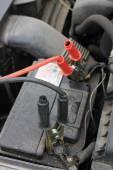 Car battery charging — Stock Photo
