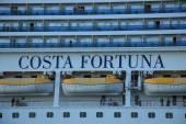 Velsen, The Netherlands - June 11, 2015: Costa Fortuna detail — Stock Photo